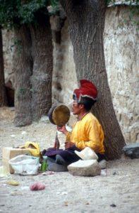 pilgrim at the Drepung monastery
