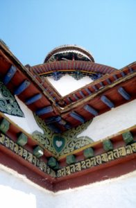 roof detail of the pagoda