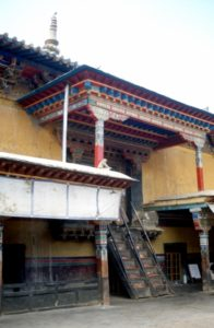 stairs inside the Pelkor Chode monastery