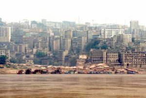 passing a big city, Wanzhou