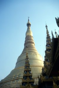 the Shwedagon Paya in Yangon