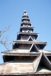 another pagoda, corrugated iron roofs decorated