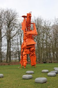 """a remarkable scultpure, """"Ins Blau"""", in the garden of Castle Nijenhuis, by David Bade"""