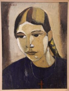 """Gustave de Smet: """"Girl with Plait"""""""
