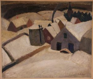 "Gustave de Smet: ""Wintery Scene"""