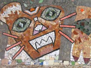 mosaic at the amphitheatre (courtesy Gijs Remmelts)