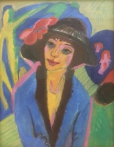 "and Kirchner again, ""Portrait of Gerda"" (1914)"