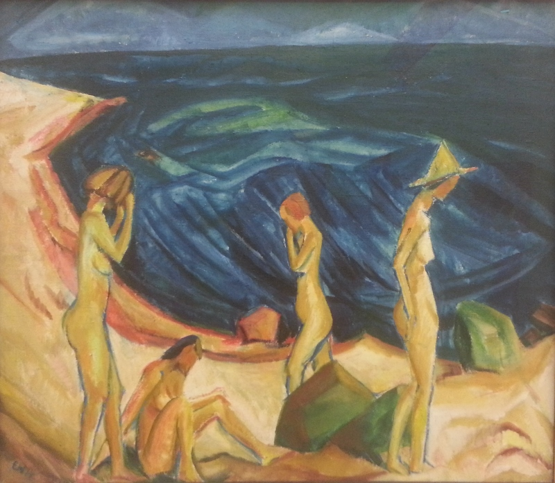 "and one of my favourites, Erich Heckel's ""Women bathing"" (1914)"