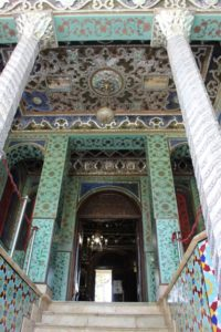 one of the building entrances in the Golestan Palace
