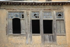 some things are authentic, of course, like the houses themselves, and the windows