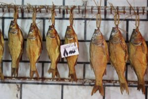 dried fish in the bazaar of Rasht
