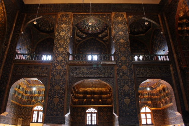 the main hall of the mausoleum, or one side of it, at least