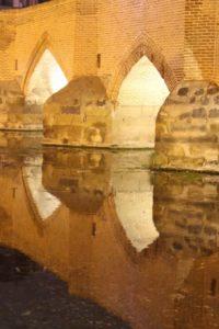 the Safavid bridge Pol-e Jajim in Ardabil