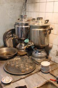tea house in the Tabriz covered bazaar