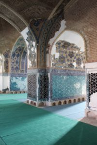 inside much has been restored, including a lot of the tile work