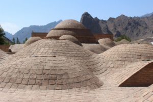 the roof of the hamman in Kordasht village