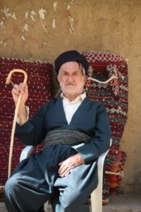 Kurdish man near the village of Howraman-at-Tahkt