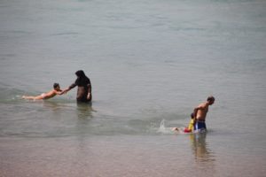 escaping the heat, fun in the water, for the whole family....