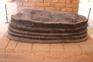 including a bitumen-sealed coffin