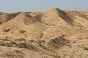 the area surrounding the ziggurat