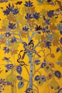 jolly colour tiles inside the church