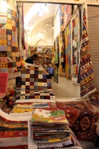 carpet shop in the Shiraz bazaar