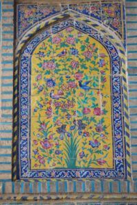 tile decoration of the Khan Madrasse entrance