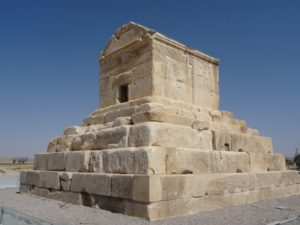 the tomb of Cyrus the Great in Pasargadae