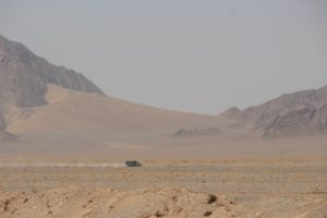 most of the desert sand has been blown up the mountain side