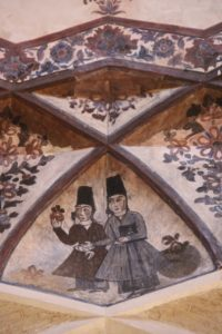 high in the main vault of the bazaar are some frescos