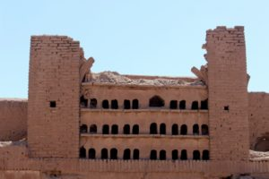an old pigeon tower in one of the caravanserais
