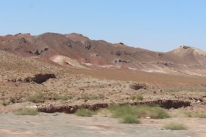 bare landscape on the drive to Meymand