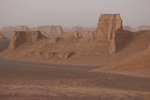 spectacularly weathered by wind erosion
