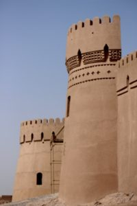restored watch towers at the Arg-e Bam