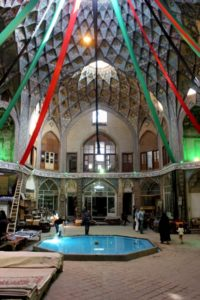 in the bazaar, the Khan Amin al-Dowleh Timche is the most decorated caravanserai