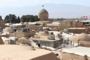 from the roof of the bazaar, with a view over other roofs