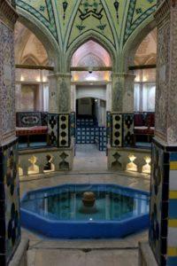 entering the Hamman-e Sultan Mir Ahmad, a 500 year old bathhouse (albeit restored)