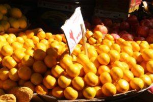 fruit (hybrid between lemon and orange)