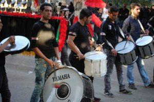 providing a solemn rythm to the procession