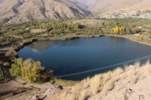 Eval lake, a small lake along the way
