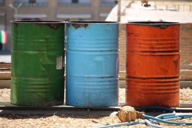 colours on a building site