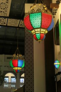 the lights in the gold souq