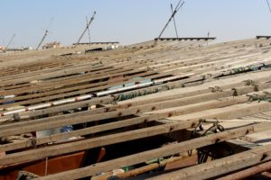 the roofs of the dhows