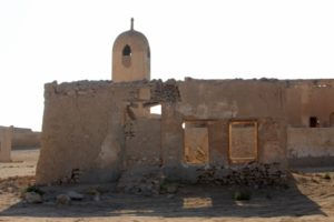 what's left of the mosque and minaret of Al Jumail