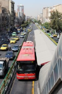 the Rapid Transit System in Tehran